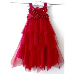 Biscotti Layered Tulle Flower Girl Party Dress 4